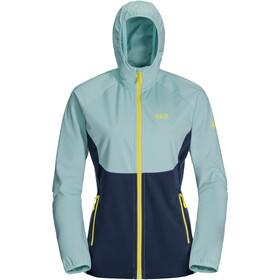 Jack Wolfskin Go Hike Softshell Jacket Women, blauw/turquoise